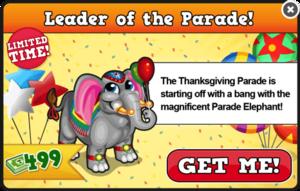 Parade elephant modal
