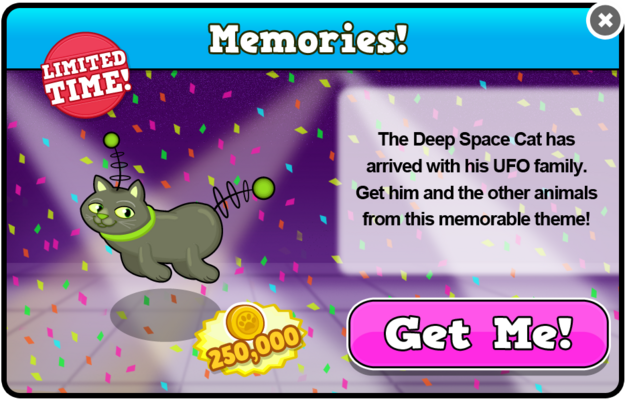 Deep space cat modal