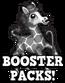 Black and white booster packs hud