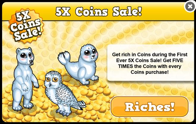 Arctic coin sale modal