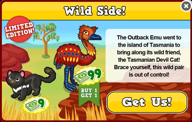 Outback emu modal