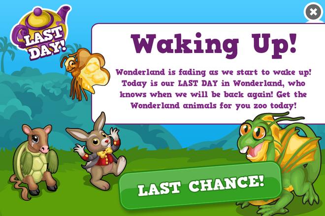 Wonderland last modal