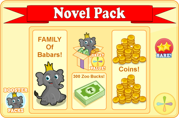 Booster pack babar the elephant modal