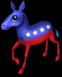 Patriotic donkey static