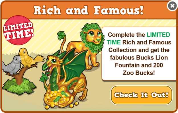 Bucks lion collection modal