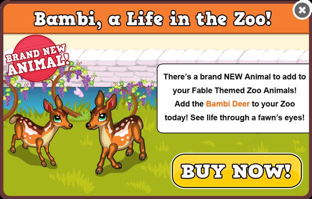 Bambi deer modal