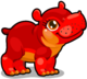 Cubby hippo red single