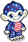 Cubby Monkey Patriotic single