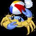 Beach ball crab single