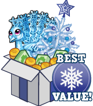Booster pack snowflake peacock