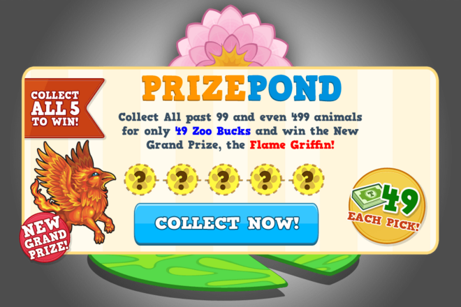 Prize pond flame griffin load