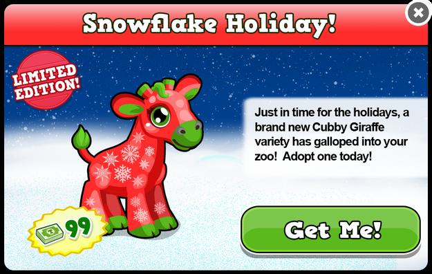 Cubby christmas giraffe modal