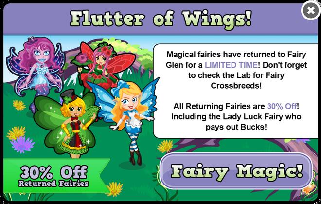 Fairy glen fairy sale modal