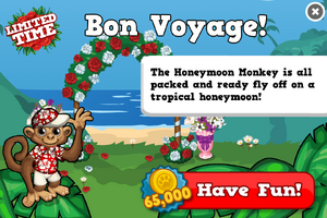 Honeymoon monkey modal