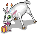 Birthday candle goat static