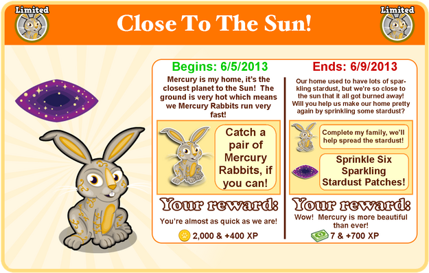 Mercury rabbit goal modal