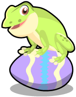 Springtime frog single