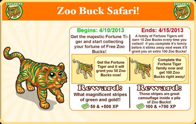Fortune tiger goal modal