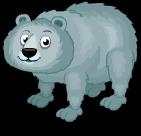 Himalayan blue bear static