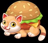 Cheeseburger cat single