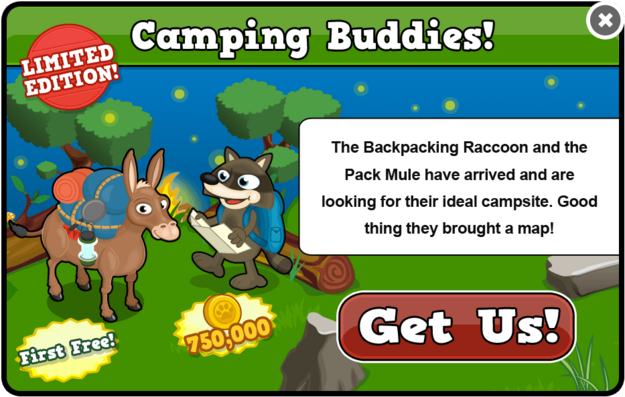 Pack mule modal