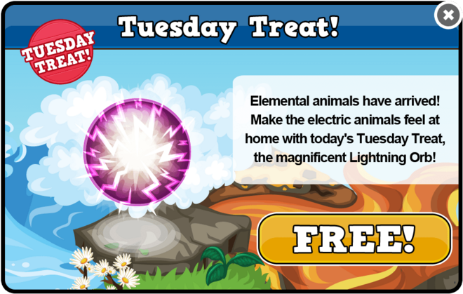 Elemental tuesday treat modal