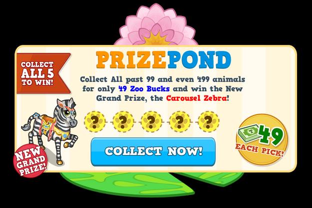 Prize pond carousel zebra load