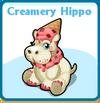 Creamery hippo card