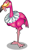 Croquet flamingo static