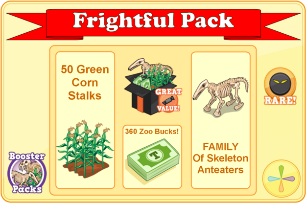 Frightful pack modal
