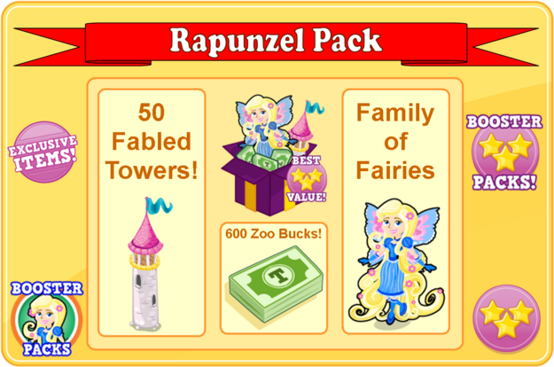 Rapunzel fairy booster pack modal