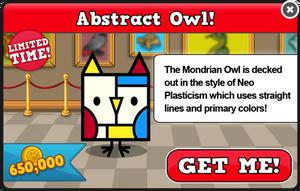 Mondrian owl modal