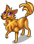 Golden wolf static