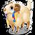 Goal tibetan sheep icon