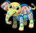 Painted elephant single