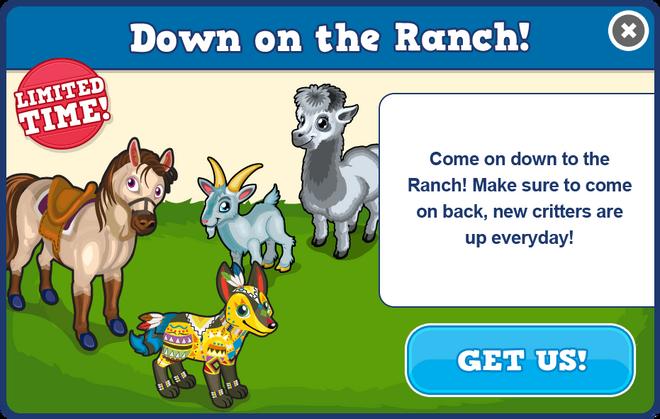 Ranch modal