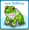 Lace bullfrog card