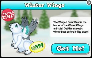 Winter polar bear modal