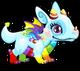 Cubby dragon rainbow single