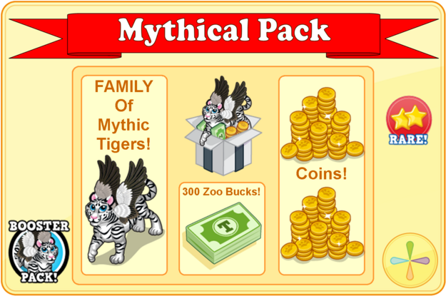 Winged white tiger booster pack modal