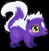 Cubby skunk mauve single