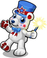 Patriotic bear single