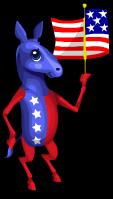 Patriotic donkey an