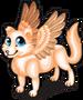 Winged arctic fox single