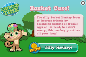 Basket monkey modal