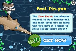 Saw shark modal
