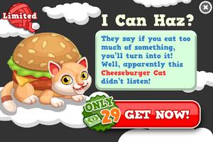 Cheeseburger cat modal