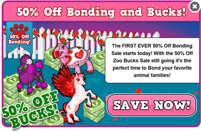 50 off bonding valentine's 2013 modal