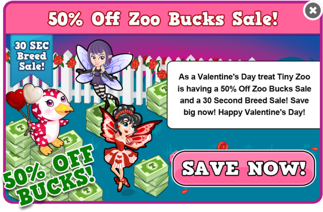 Half price bucks valentine's 2013 modal
