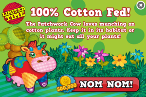 Patchwork cow modal